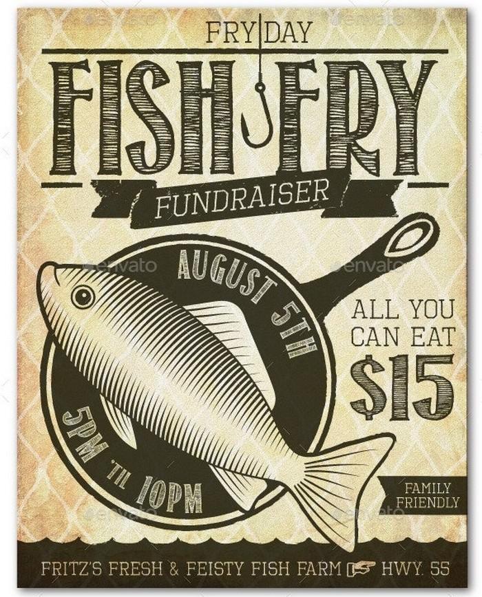 Fish Fry Event Fundraiser Flyer