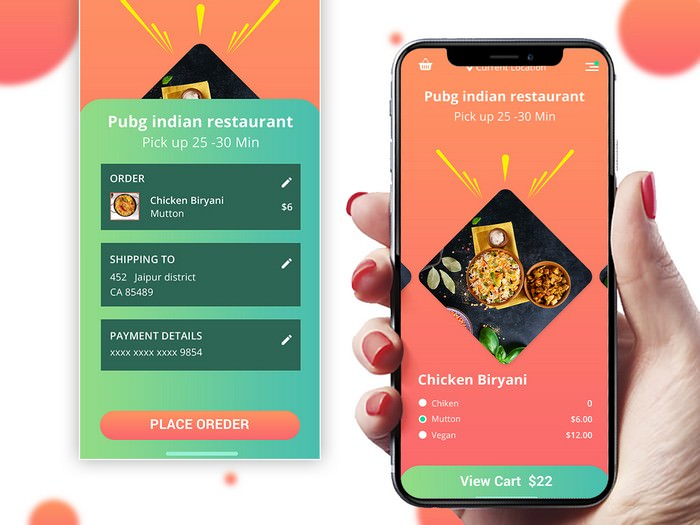 Foody Mobile App Design
