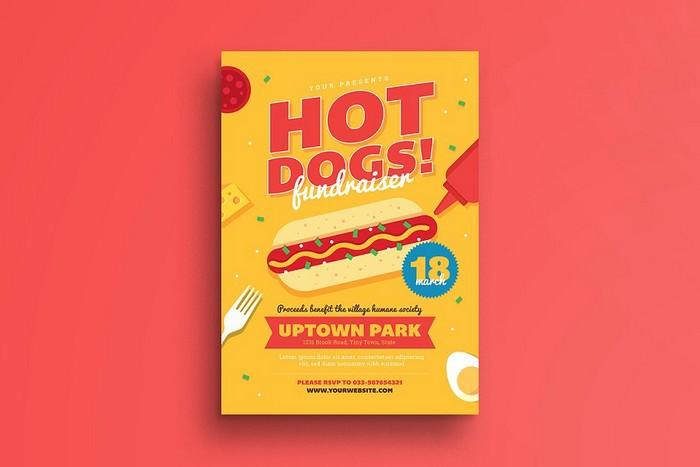 Hotdog Fundraiser Flyer