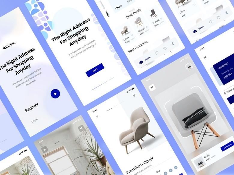 Kleine E-Commerce UI Kit Freebie