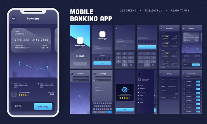 Mobile Banking App UI Kit