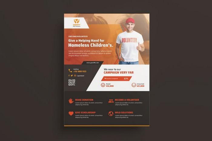 NGO, Charity,Fundraising Flyer # 2