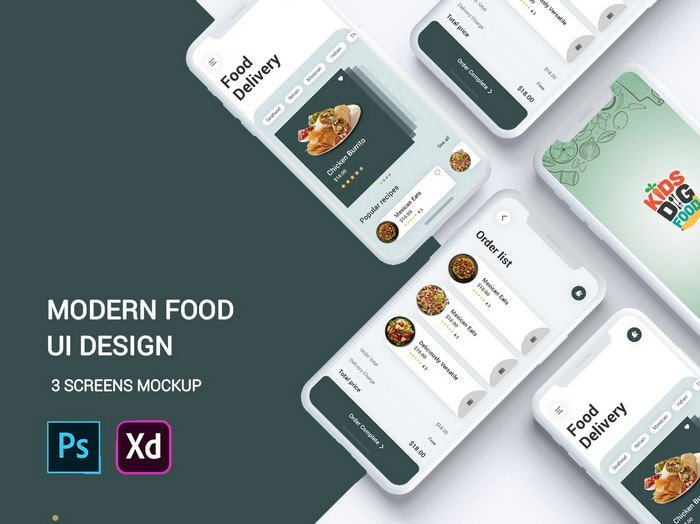 New Modern Food Delivery App UI Kit