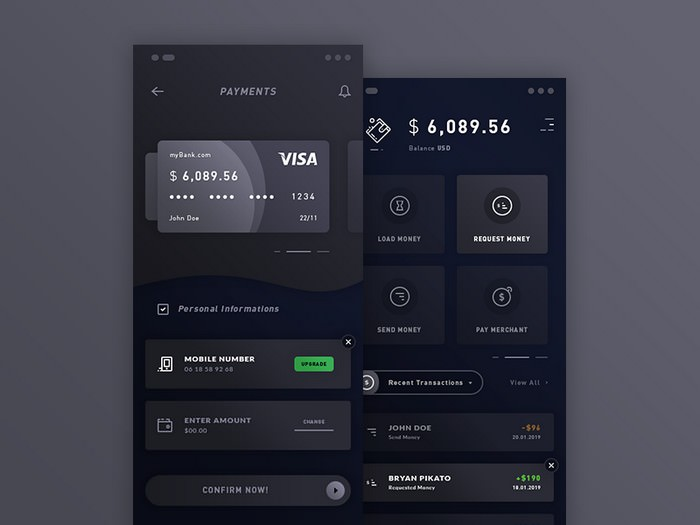 Payments & Wallet. IOS App