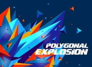 Polygonal Explosion Backgrounds