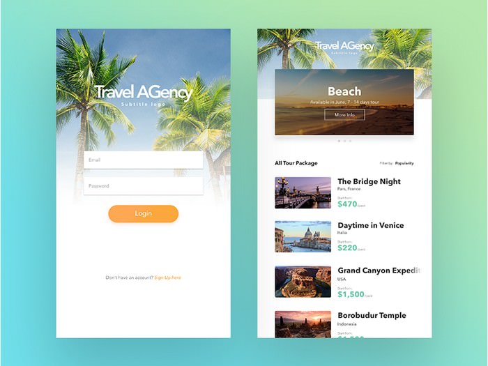 Simple Travel Agency App