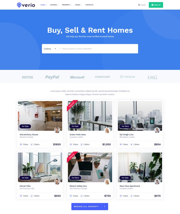 Verio - Real Estate HTML Template