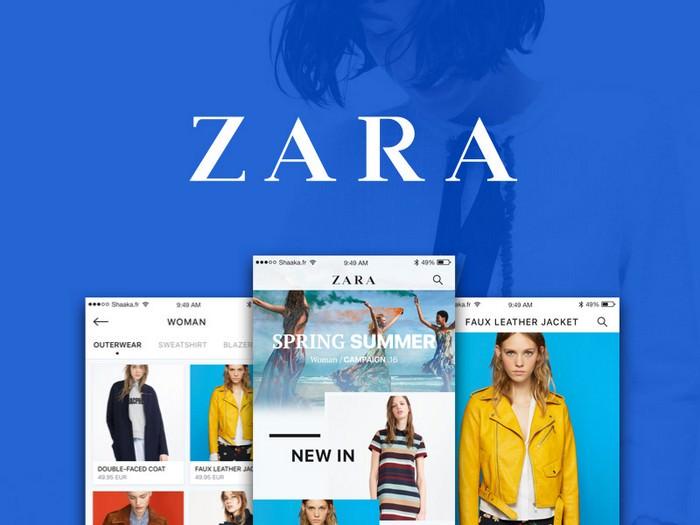 Zara iOS App Concept