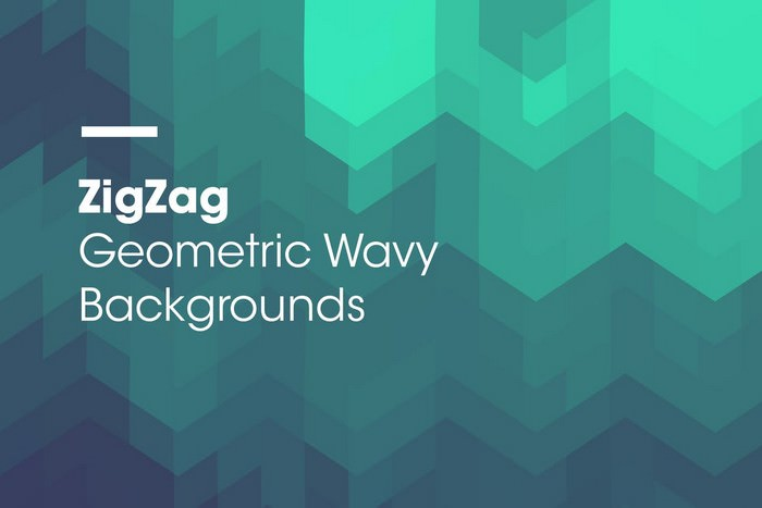 ZigZag Geometric Wavy Backgrounds
