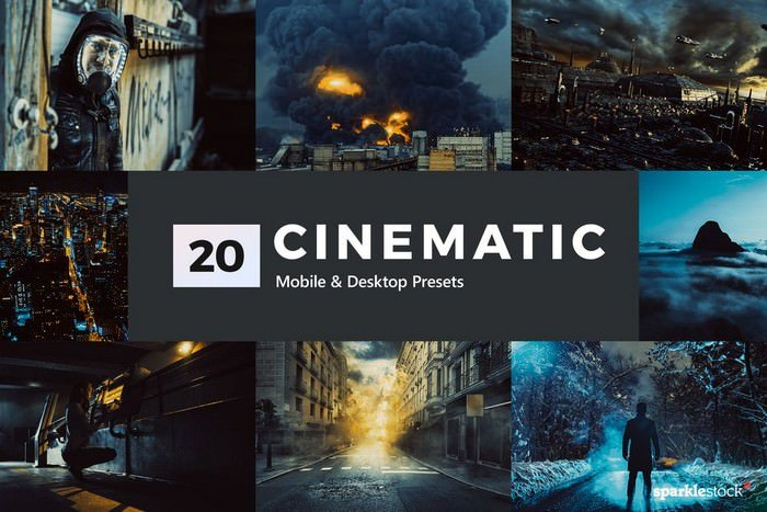 20 Cinematic Lightroom Presets & LUTs
