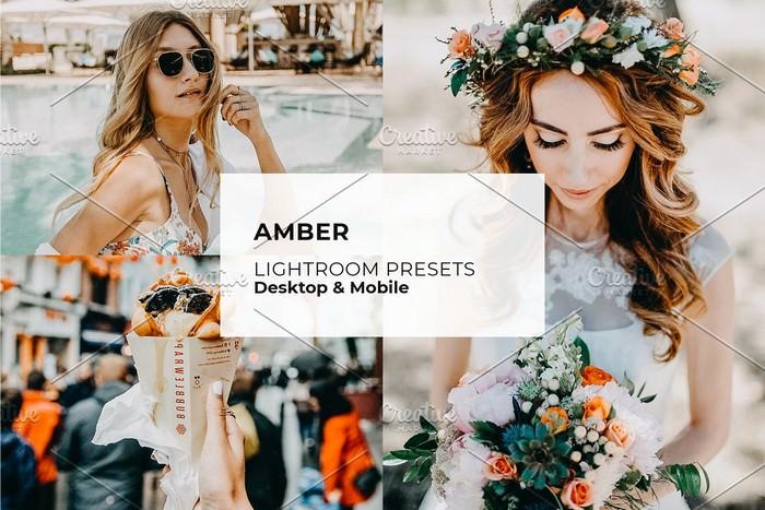 Amber Blogger Vibrant Preset