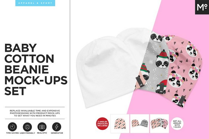 Baby Cotton Beanie Mock-ups