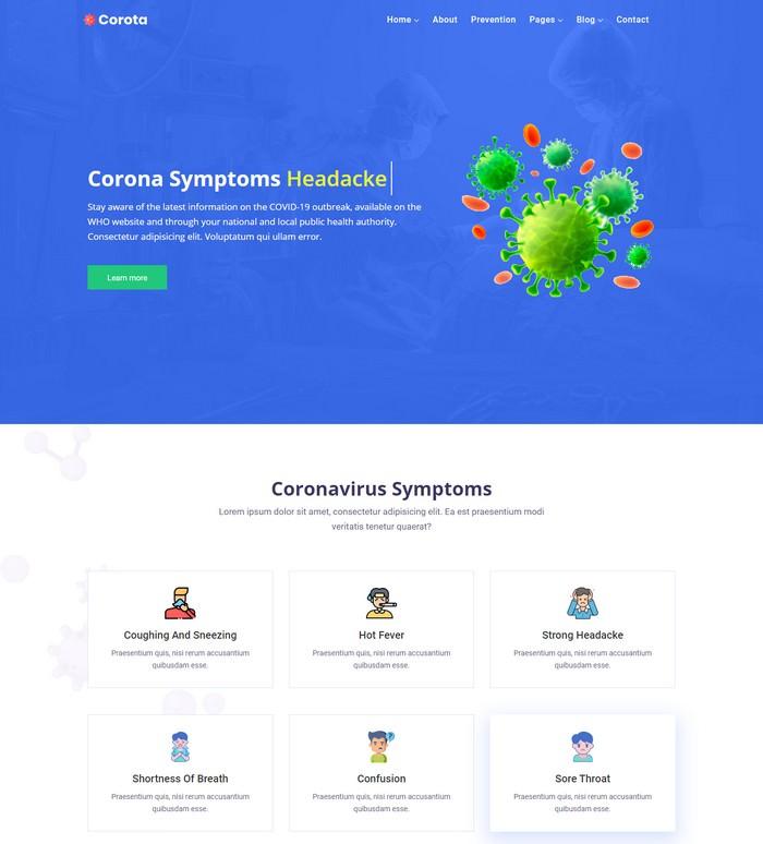 Corota - Coronavirus Medical Prevention Template