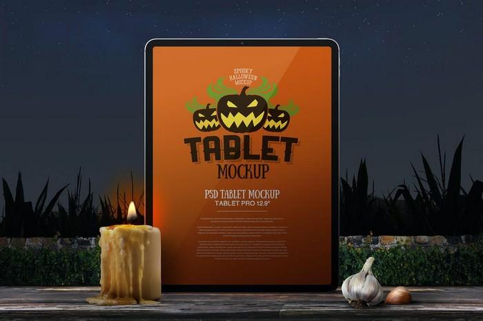 Halloween Mockup Tablet Pro
