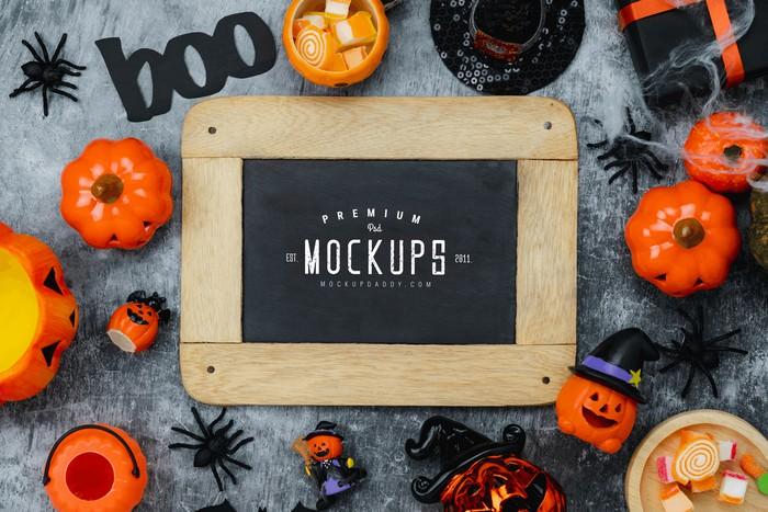 Halloween Pumpkin Mockup Free Download