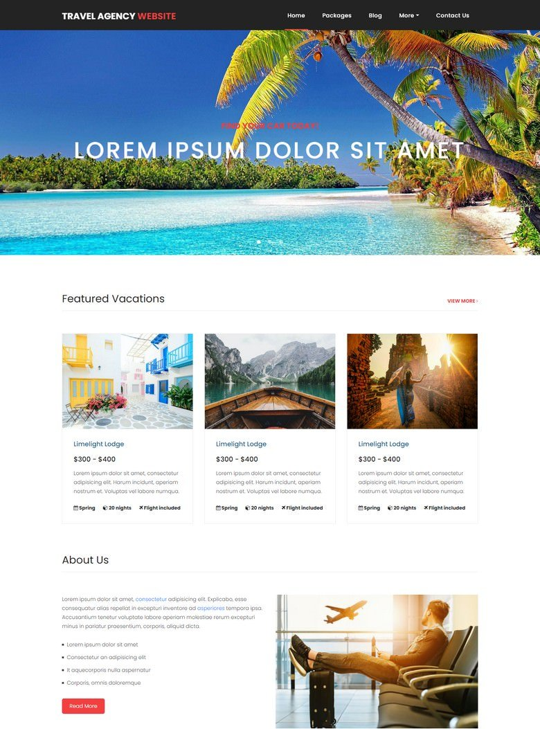 Travel PHP Website Template