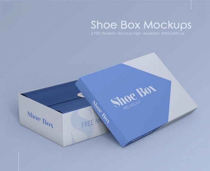 2 Free Shoe Box Mock-ups