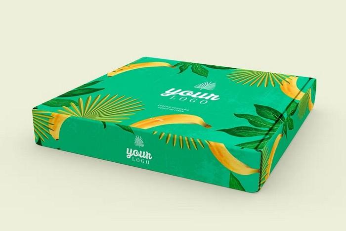 Beautiful PSD Box Mockup - Pizza