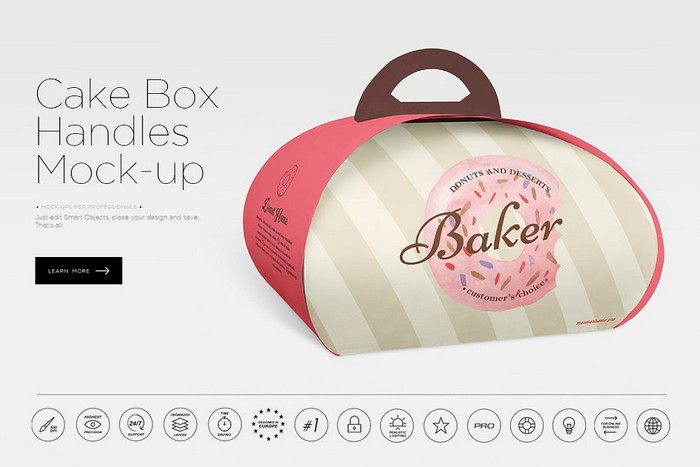 Cake Box Handles Mock-up