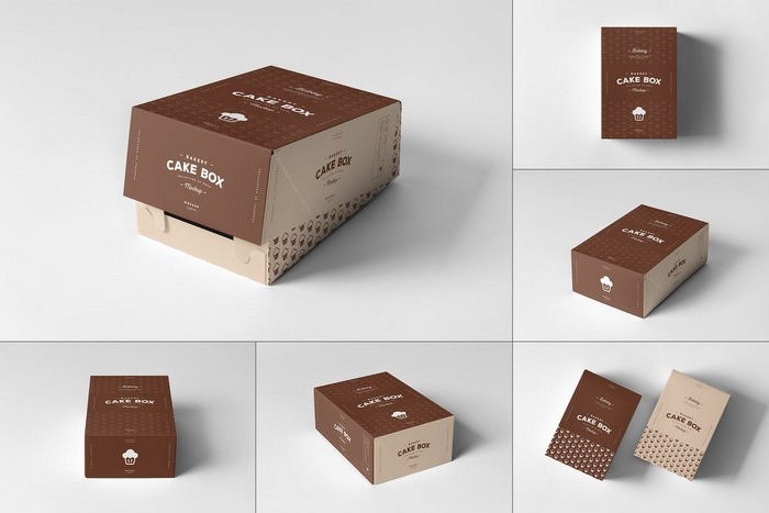 Cake Box Mock-up