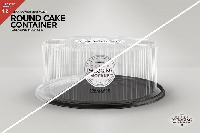 Cake Container Packaging Mockup