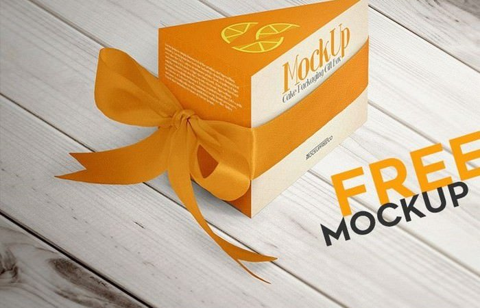 Cake Packaging Gift Box – Free PSD Mockup