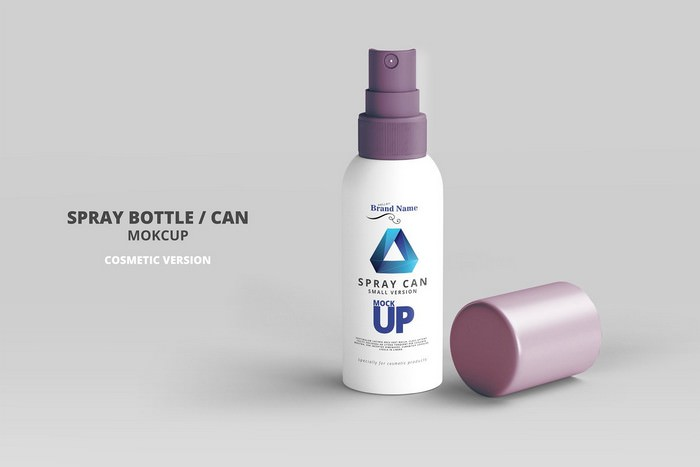 Cosmetic Spray Can Mockup