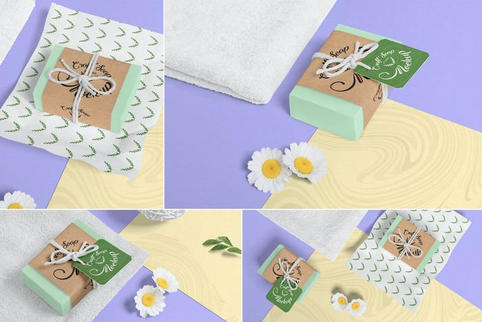 3500×2300 px Craft Soap Bar PSD Mockup