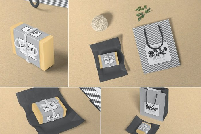 Craft Soap Box Mockups