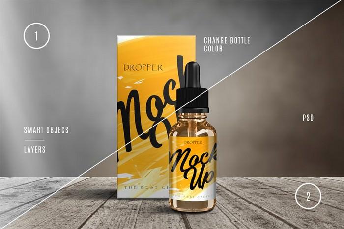 Dropper Bottle Mock-up Vape