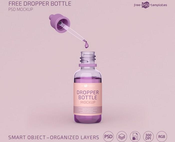 Dropper Bottle Mockup Template