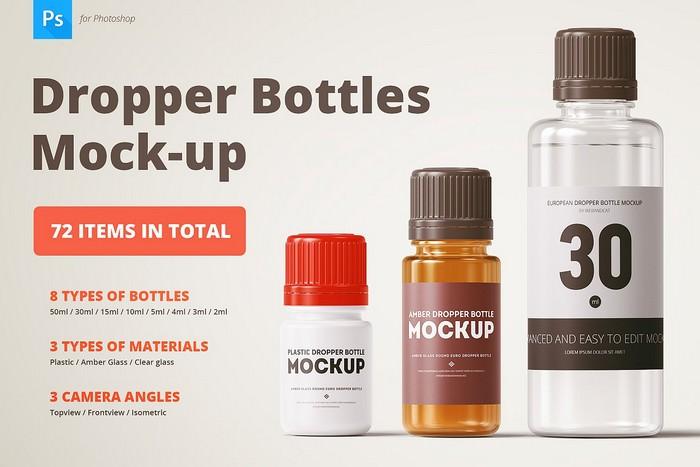 Dropper Bottles Mock-up