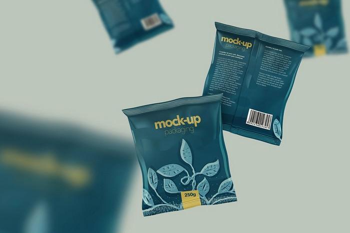 Foil Sachet Pack - Realistic Mock-up