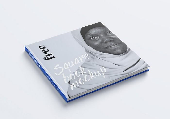 Free Square Book Mockup # 1
