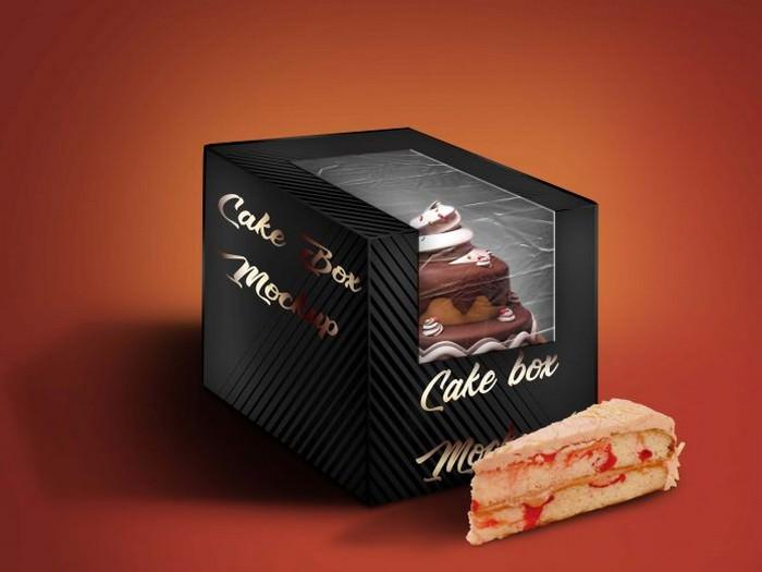 Glossy Cake Box Mockup PSD
