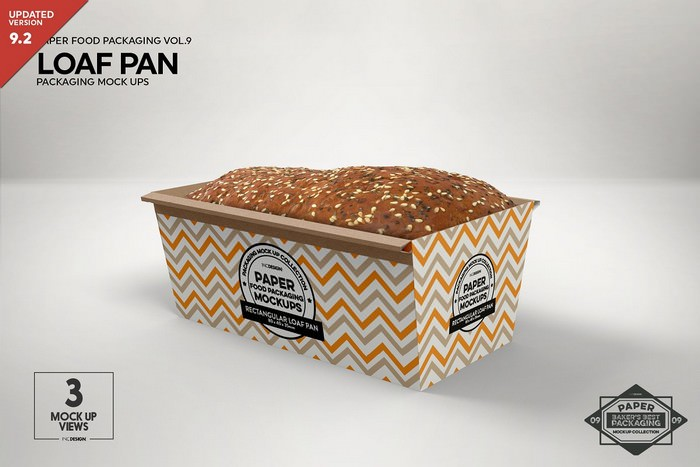 Loaf Cake Mold Packaging Mockup