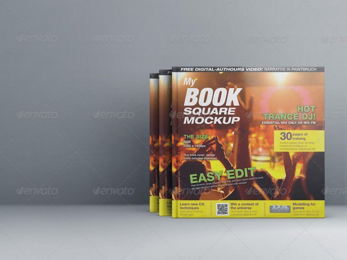 MyBook Square Mock-up