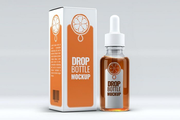 Photorealistic Dropper Bottle Mock-Up