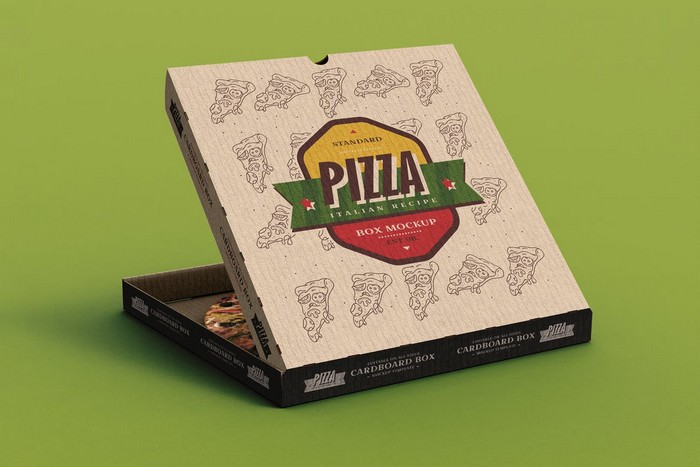 Pizza Box Mock-Up Template