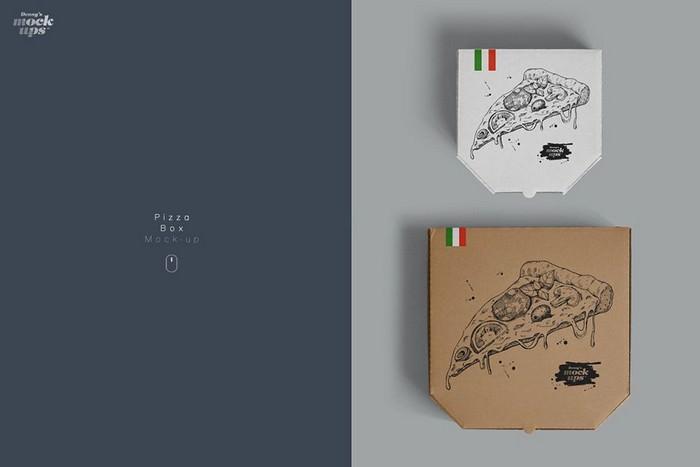 Pizza Box Mockup - 9 PSD