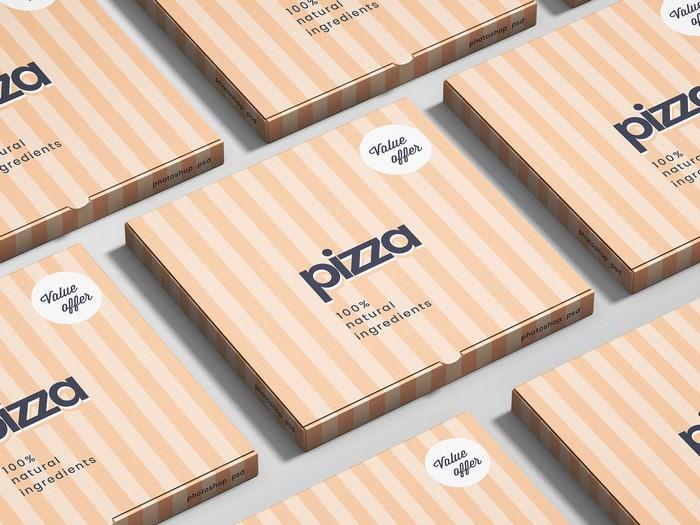 Pizza Box Mockup Design