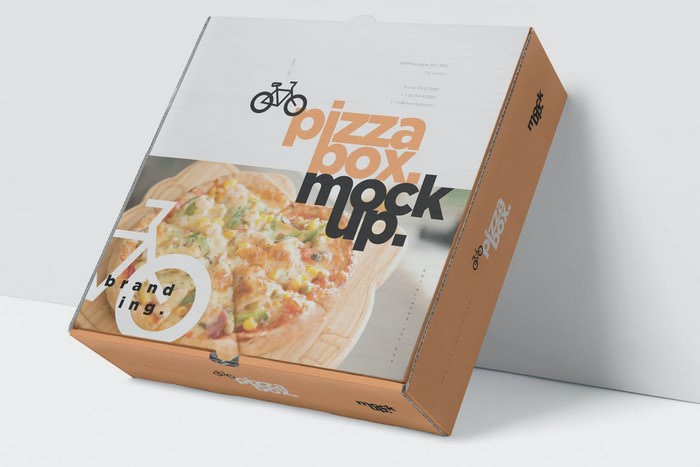 Pizza Box Mockup - Double Pack
