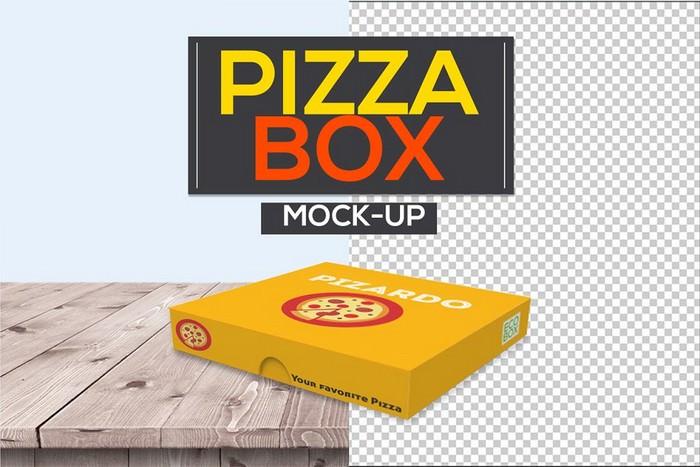 Pizza Box Packaging Mock-Ups