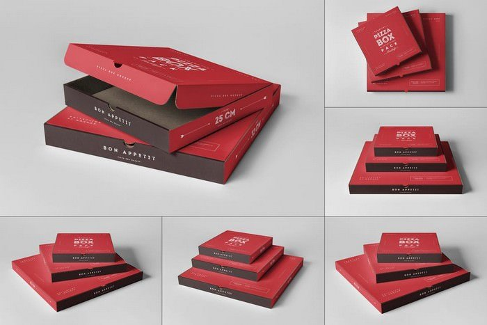 Pizza Boxes Mock-up