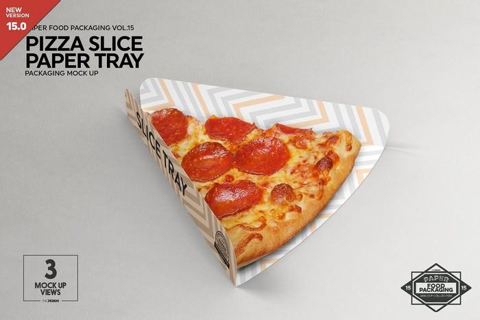 Pizza Slice Tray Packaging Mockup
