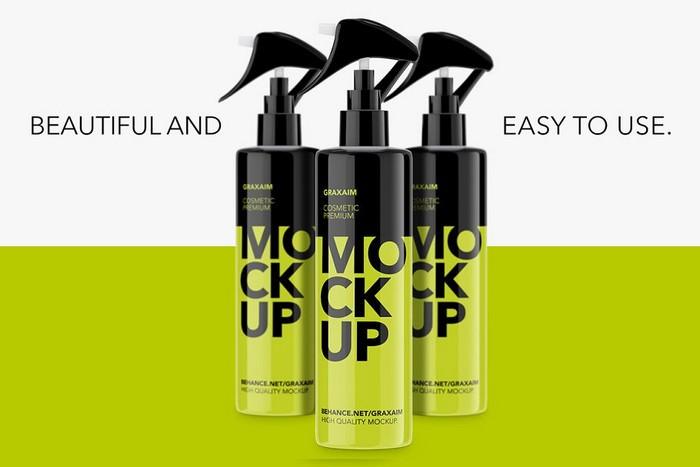 Plastic Cosmetic Pump Spray Bottle