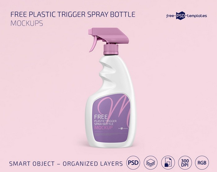 Plastic Trigger Spray Bottle Mockup