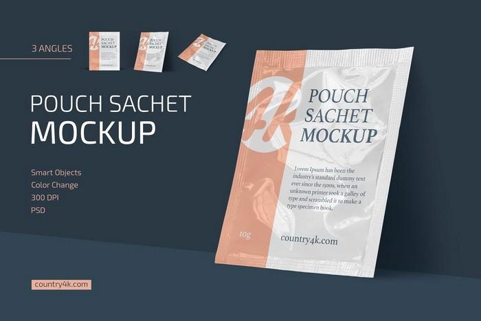 Pouch Sachet Mockup Set
