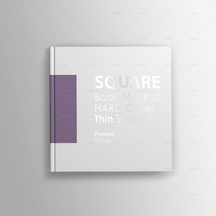 Realistic Square Book Mockup