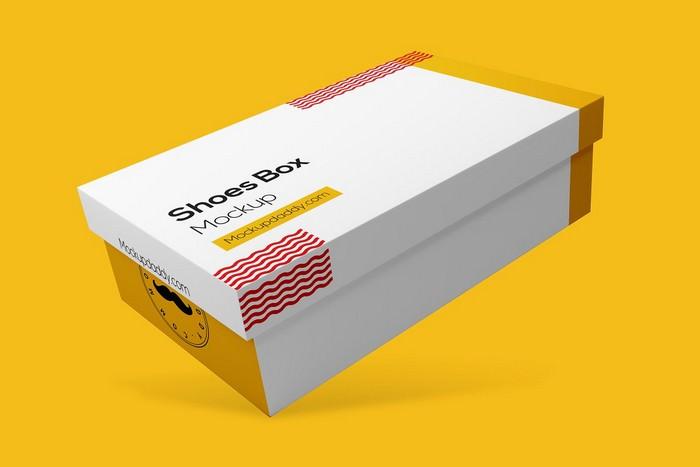 Rectangle Shoe Box Mockup